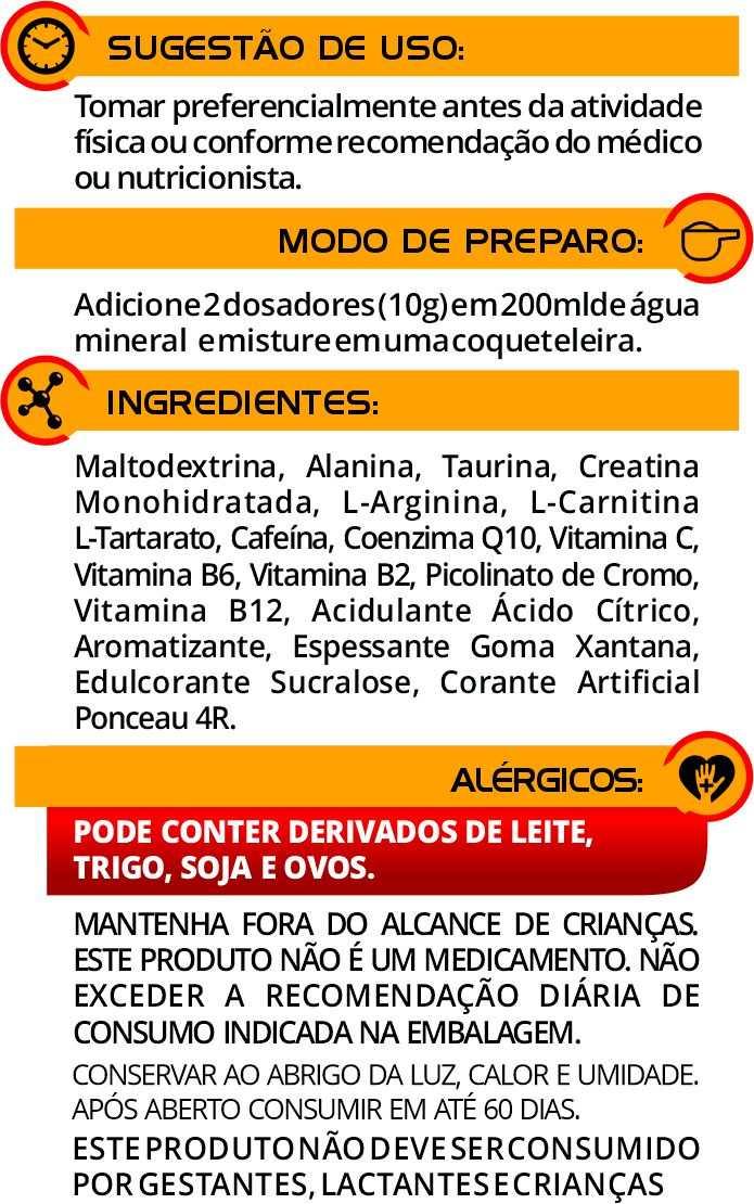 Pré Treino Euronutry Êxodo de Laranja 300G