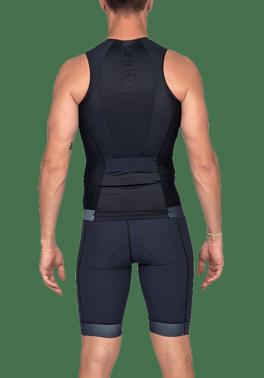 Top De Triathlon Woom Carbon Black 2020 Masculino Sem Manga
