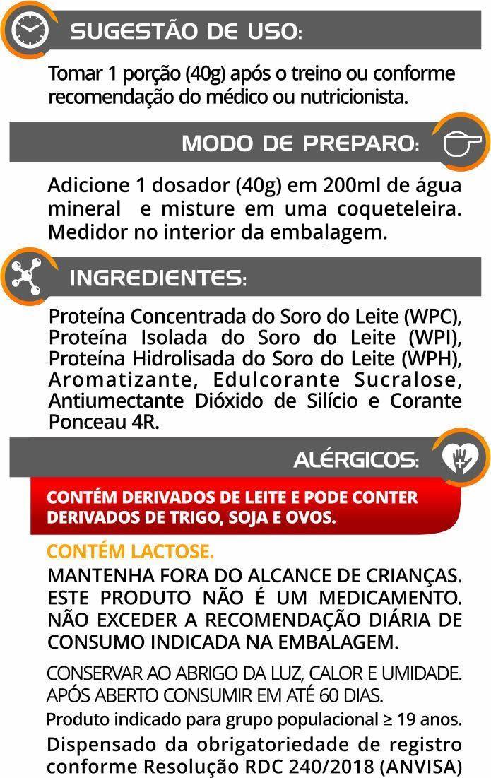 Totally Whey Euronutry 65% 3W 9OOg - Sabor Baunilha