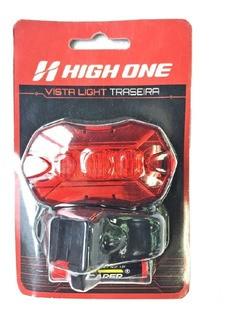 Vista Light Traseiro 5 Leds Hexagonal Preto High One Pilha