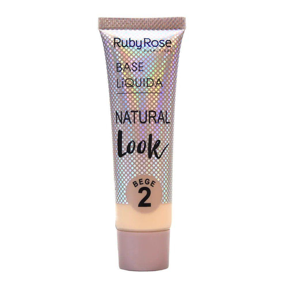 Base Líquida Natural Look Bege 2 - Ruby Rose