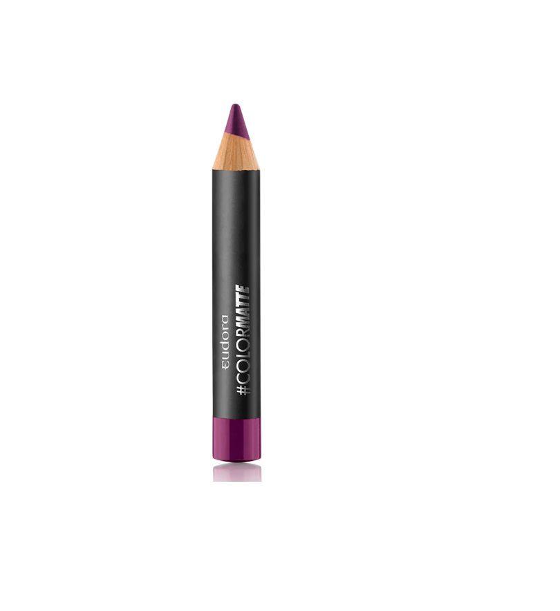 Batom Lápis Color Matte Roxo Vip 1,2g - Eudora