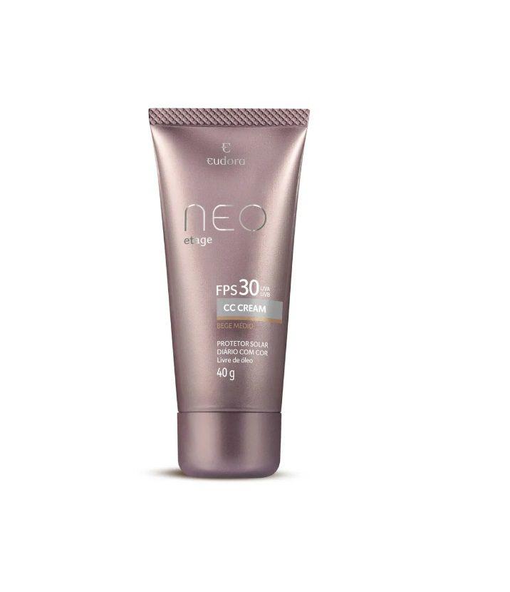 Protetor Solar Cc Cream N/Etage Bege Médio Fps30 40g - Eudora