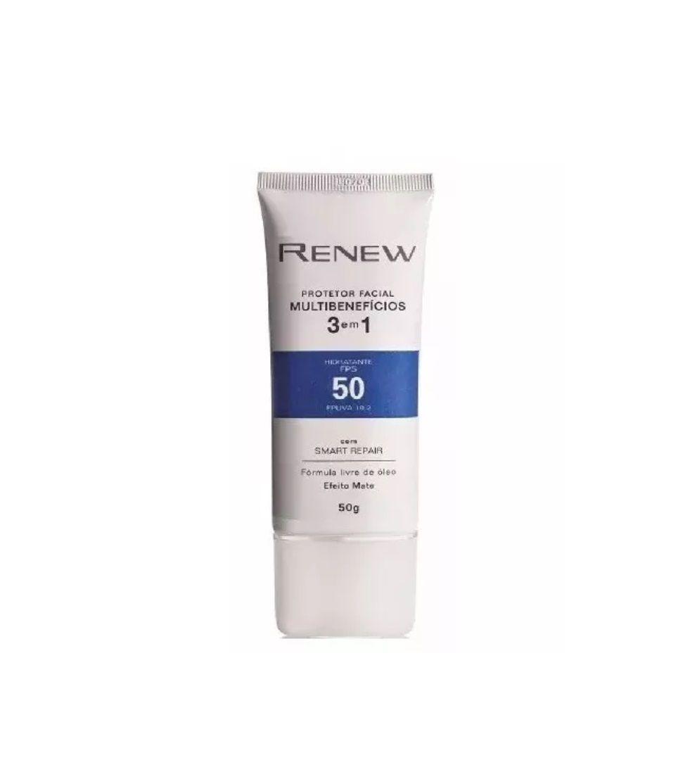 Protetor Facial Renew Multibenefícios 3 Em 1 FPS50 50 g - Avon