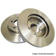 Par de disco de freio dianteiro sólido - Clio 1.0 2013/... R19 RN, Twingo 2000, Express