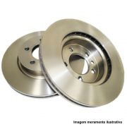 Par de disco de freio dianteiro ventilado - Duster, Fluence (1.6/2.0) 16v 2011/...