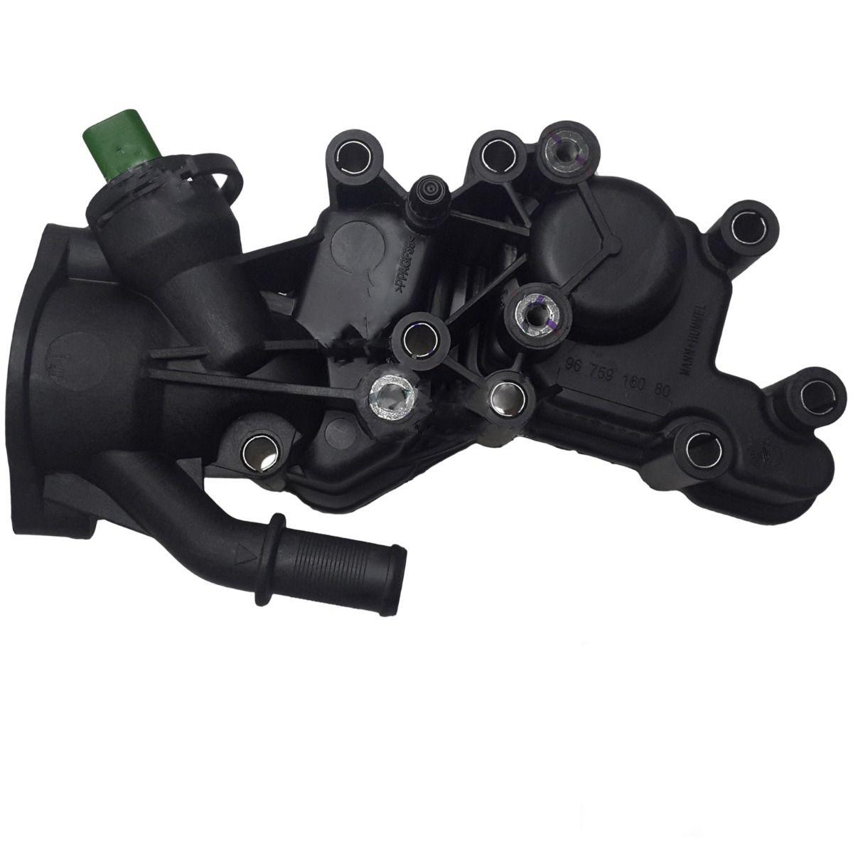 Carcaça de válvula termostática com sensor - Peugeot 208 1.5, Citroën C3 1.5