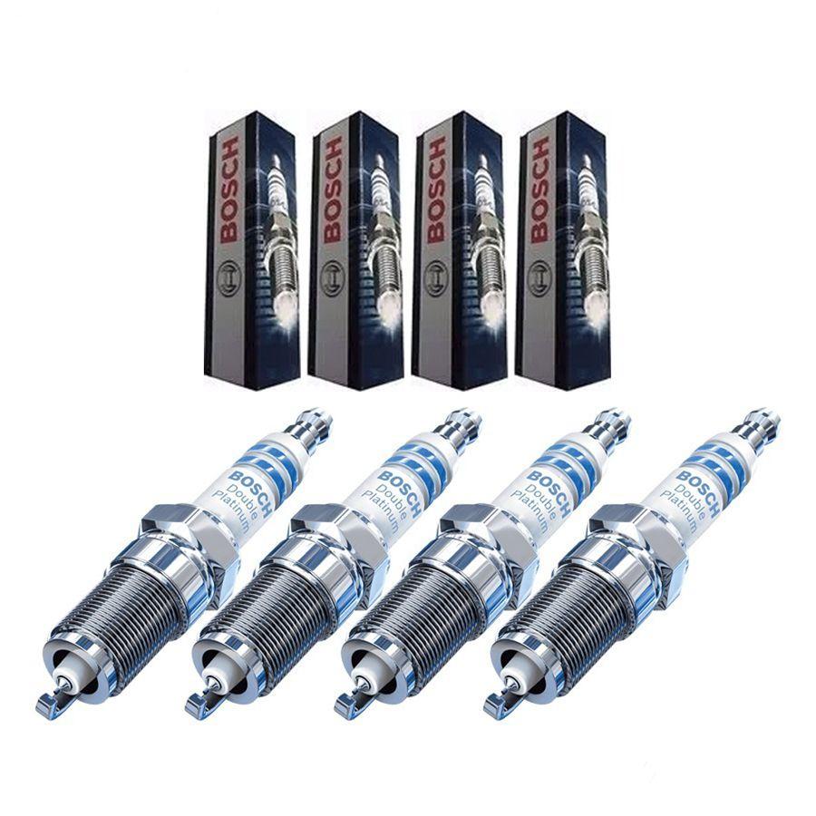 Jogo de velas de ignição platina - Renault Fluence 2.0 16v, Nissan Tiida 1.8 16v, Livina 1.8 16v, Sentra 2.0 16v, March 1.0/1.6 16v, Versa 1.0/1.6 16v, Grand Livina 1.8 16v, X-Trail 2.0 16v 2009/...