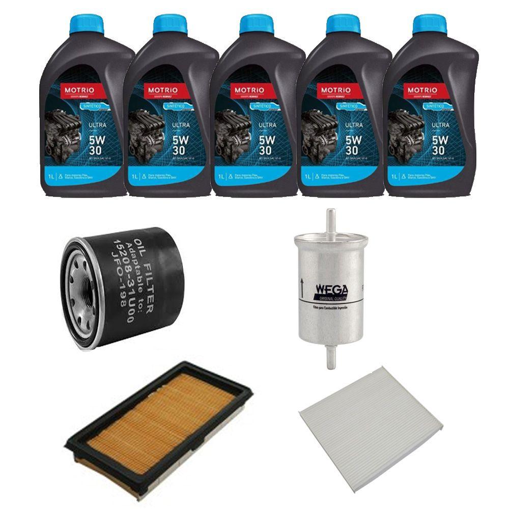 Kit revisão troca de óleo e filtros - Nissan March, Versa (Todos 1.6 16v)