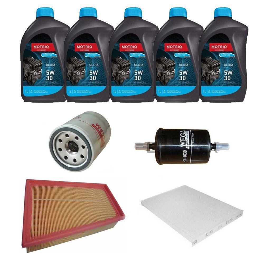 Kit revisão troca de óleo e filtros - Nissan Sentra 2.0 Flex 2009 a 2013
