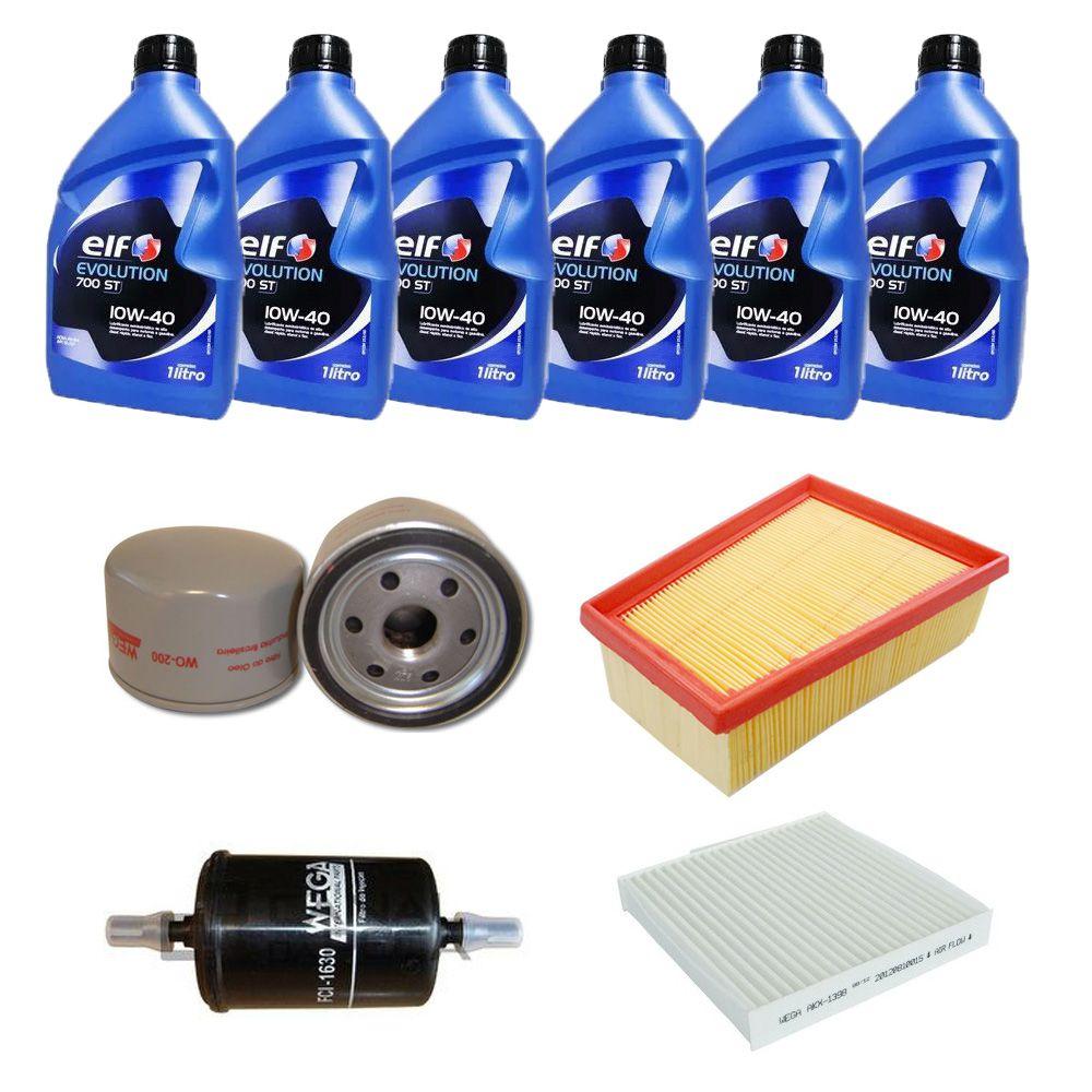 Kit revisão troca de óleo e filtros - Renault Duster 2.0 16v Hi Flex