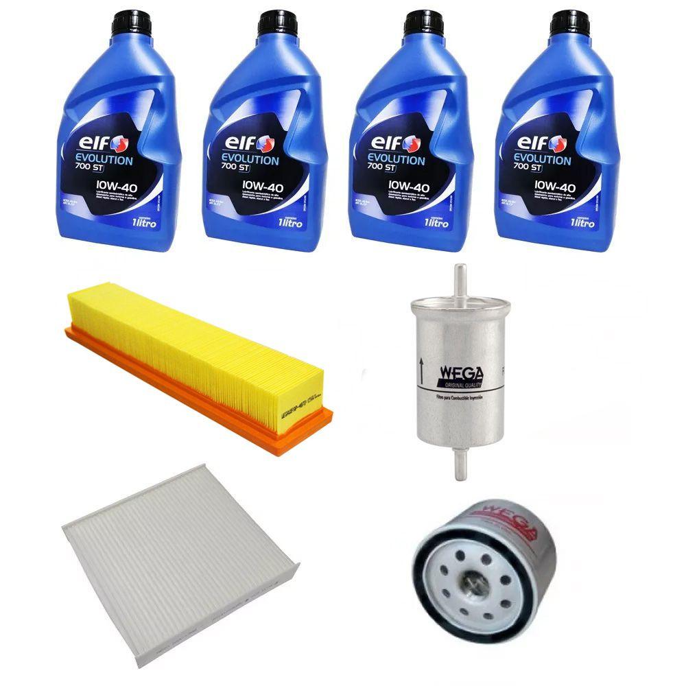Kit revisão troca de óleo e filtros Renault Logan | Sandero 1.0 16v .../2014