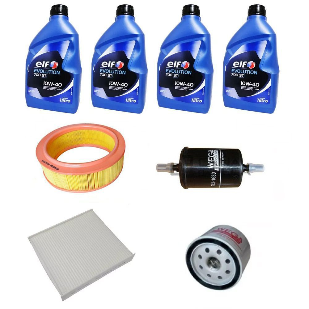Kit revisão troca de óleo e filtros - Renault Logan, Sandero (Todos 1.6 8v 2014/...)