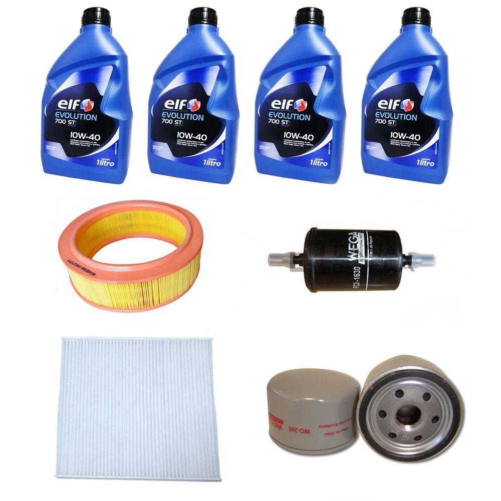 Kit revisão troca de óleo e filtros - Renault Logan, Sandero (Todos 1.6 8v Flex 2008 a 2013)