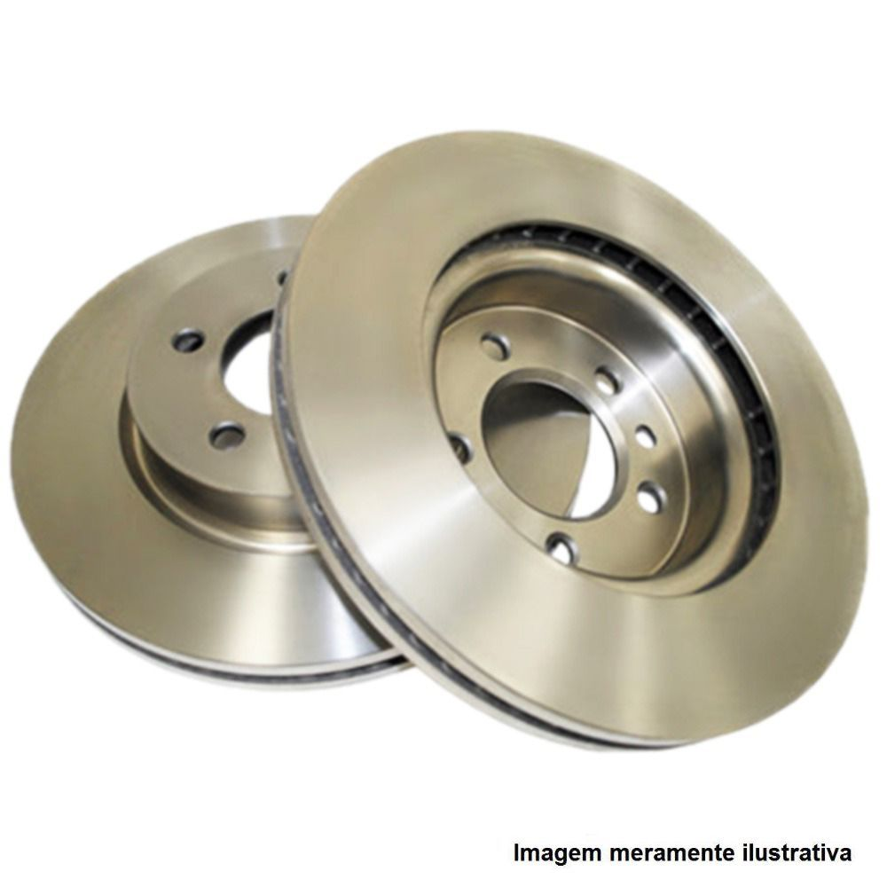 Par de disco de freio dianteiro ventilado - I30 2.0, IX35 2.0, Sonata 2.4/3.3, Tucson 2.0/2.7, Carens 2.0, Soul 1.6, Sportage 2.0/2.7, Magentis 2.0, Cerato 1.6/2.0