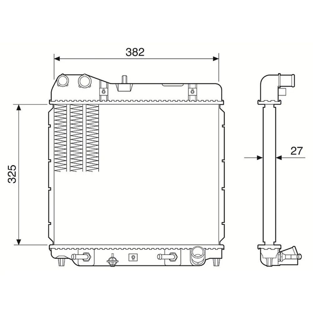 Radiador de água - Honda Fit 1.4/1.5 2003 A 2008 (Manual ou Automático)