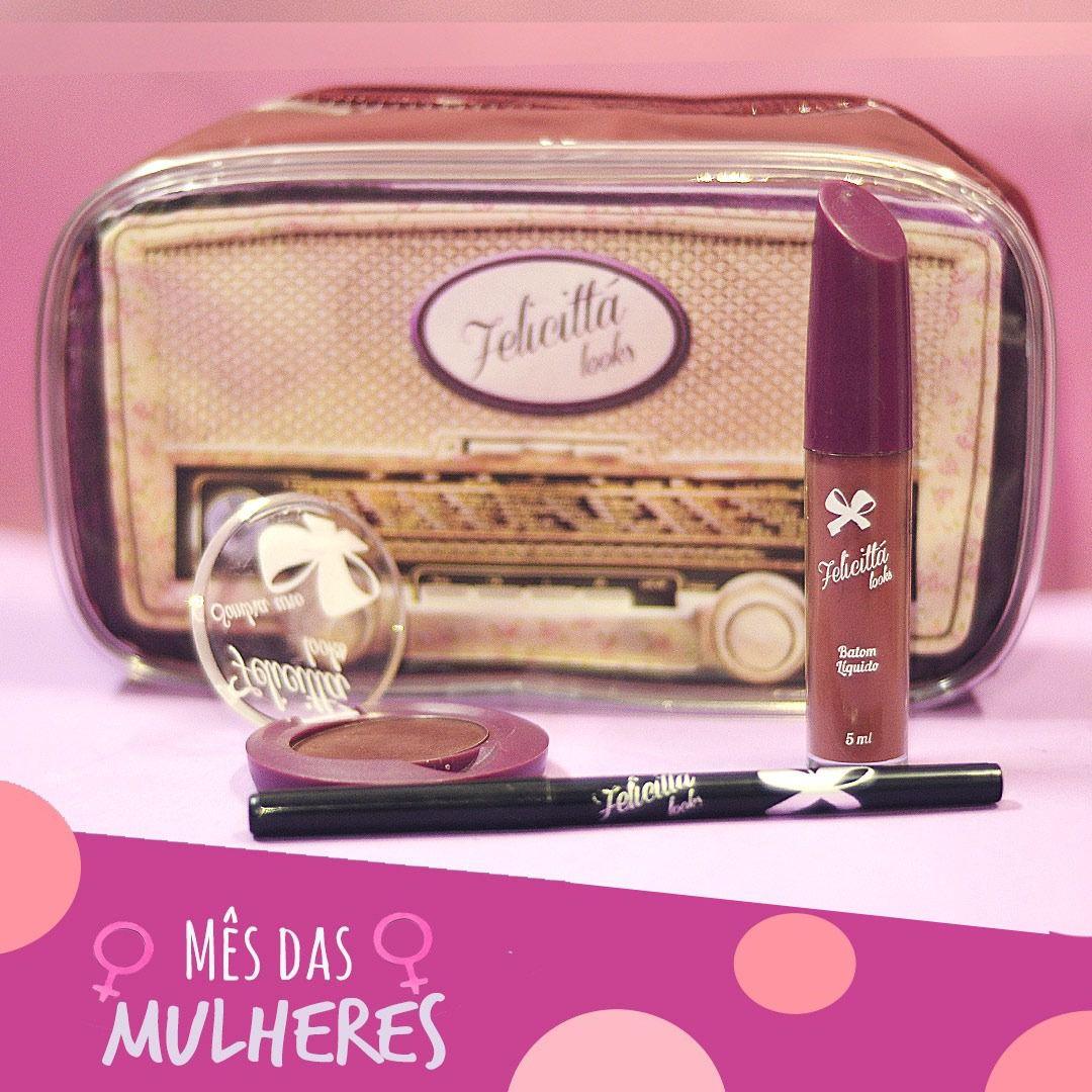 Kit das Mulheres - Batom Líquido Matte + Sombra + Delineador