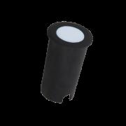 Balizador LED Romalux 10030 Redondo 1,8W 2700K IP66 Bivolt Ø50x82mm Preto