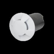 Balizador LED Romalux 10039 4 Fachos 0,7W 2700K IP66 Bivolt Ø60X92,5MM Branco