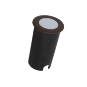 Balizador LED Romalux 10065 Redondo 1,8W 2700K IP66 Bivolt Ø50x82mm Marrom Corten