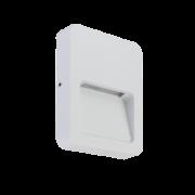 Balizador LED Romalux 10087 Sobrepor Fit 1,5W 2700K IP66 Bivolt 120x90mm Branco