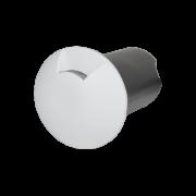 Balizador LED Romalux 10036 1 Facho 0,7W 2700K IP66 Bivolt Ø60X92,5MM Branco