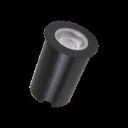 Embutido Solo LED Romalux 10032 4,5W 2700K IP66 Bivolt Ø65x56mm Preto