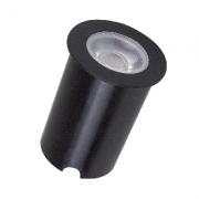 Embutido Solo LED Romalux 10112 7W 2700K IP66 Bivolt Ø65x56mm Preto