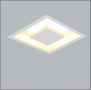 Luminária Embutir USINA 250/32 HOME 2L Bipino G9 320x320mm