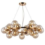 PENDENTE LED BELLA JO005 HALO 25L G9 Ø680X680MM FRENCH GOLD