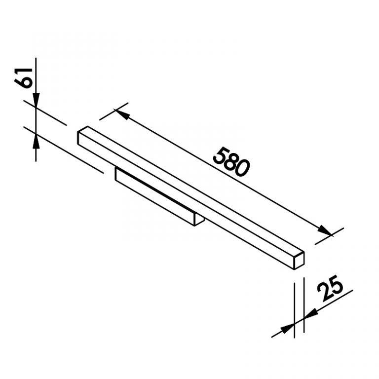 Arandela LED NEwline 655LED3 FIT 16W 3000K Bivolt 580x25x61mm