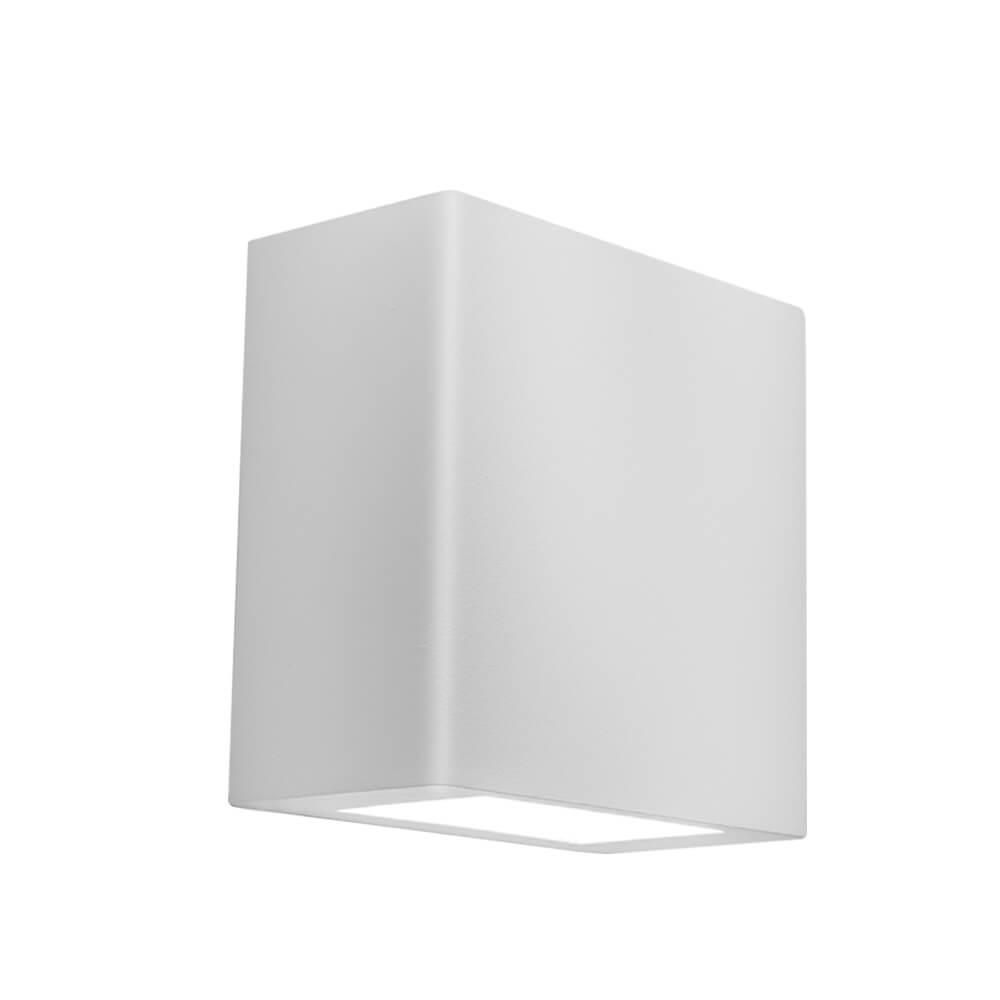 Arandela LED Newline 9585LED1 New Clean Externa 2 Fachos IP43 12W 2700K 127v 100x100x50mm