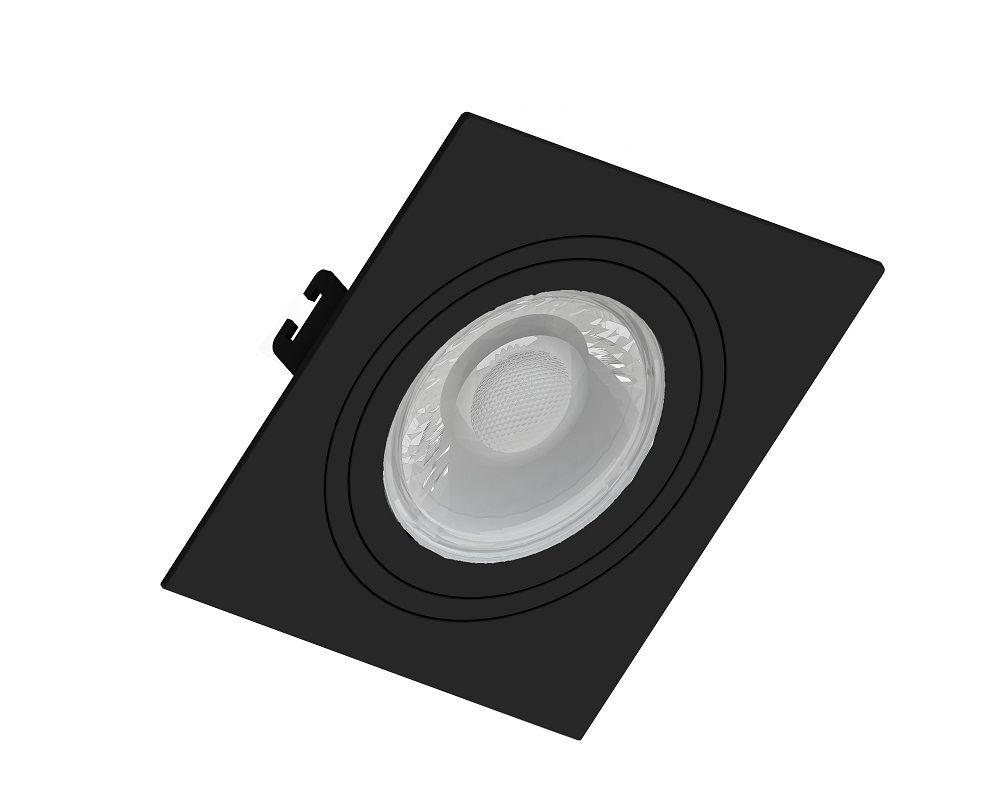 EMBUTIDO FACE PLANA SAVE ENERGY DICRÓICA/PAR16 PRETO SE-330.1035