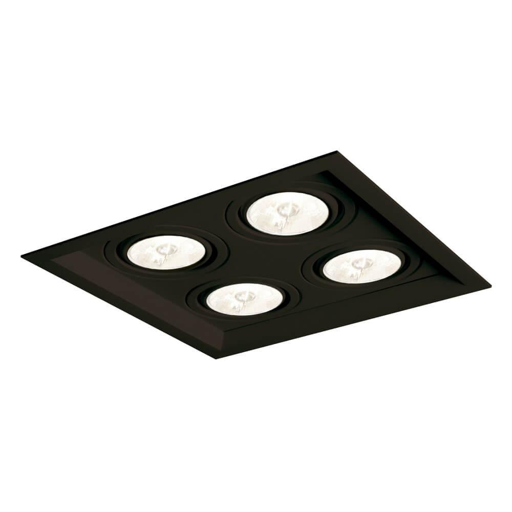 Spot Embutir Newline IN50324 Recuado II 4L Dicróica/PAR16 GU10 200x200x75mm