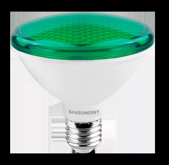 LÂMPADA LED PAR30 10W VERDE IP54 SAVE ENERGY SE-115.1269