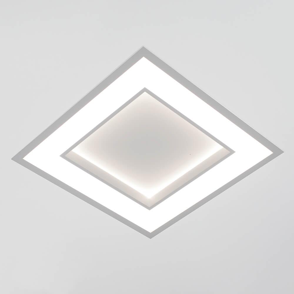Luminária Embutir LED Newline 502LED3 New Chess 33,6W 3000K Bivolt 490x490x67mm