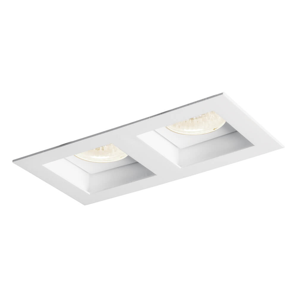 Luminária Embutir Spot Newline IN65022 Flat 2L Dicróica/PAR16 GU10 170x90x85mm