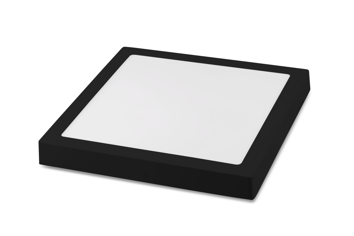Luminária LED Plafon Save Energy SE-240.1616 Jet Black 20W 3000K Bivolt 225x225mm Preto