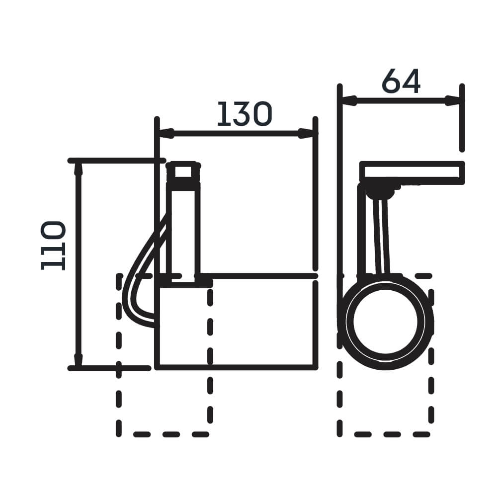 Spot Trilho Newline IN55925 Lisse II 1L Dicróica/PAR16 GU10