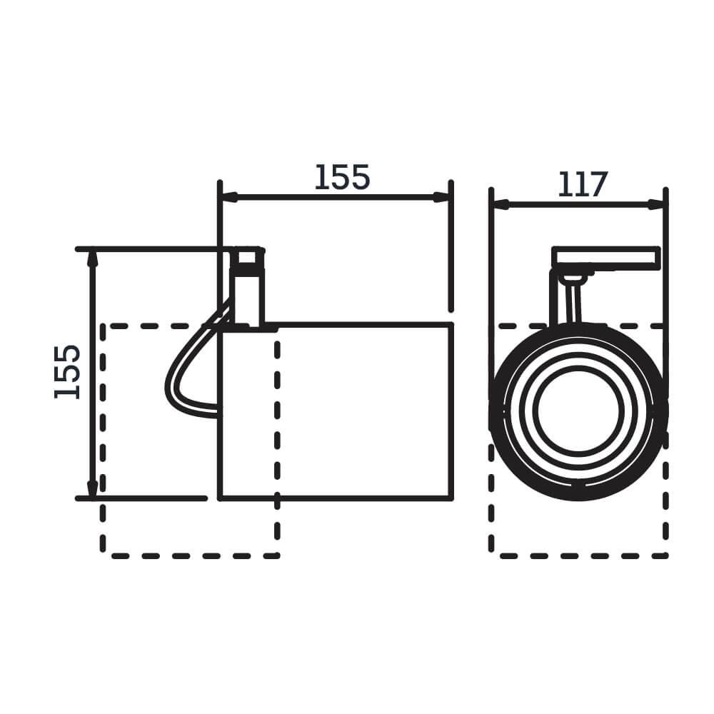 Spot Trilho Newline IN55965 Lisse II 1L PAR30 E27
