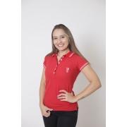 Camisa Polo Feminina Vermelho Paixão