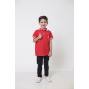 Camisa Polo ou Body Polo Infantil Vermelho Paixão