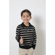 Camisa Polo Suéter Listrado Infantil