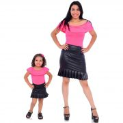 Mãe e Filha > Kit 02 Bodys Femininos Neon Rosa  [Coleção Tal Mãe Tal Filha]