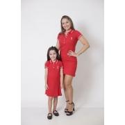 MÃE E FILHA > Kit 02 Vestidos Adulto e Infantil Vermelhos Paixão [Coleção Tal Mãe Tal Filha]