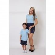 MÃE E FILHO > Kit 02 Peças - T-Shirts ou Body Azul Bebê [Coleção Tal Mãe Tal Filho]