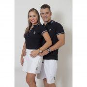 NAMORADOS > Kit 02 Peças Bermuda Masculina + Shorts Saia Feminina Branca [Coleção Namorados]