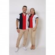 NAMORADOS > Kit 02 Peças - Camisa Polo Masculina + Feminina - Listrados King [Coleção Namorados]