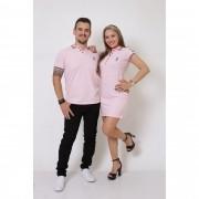NAMORADOS > Kit 02 Peças Camisa + Vestido Polo Rosa Amor [Coleção Namorados]