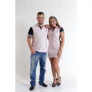 NAMORADOS > Kit 02 Peças Camisa + Vestido Polo Rosa com Marinho [Coleção Namorados]